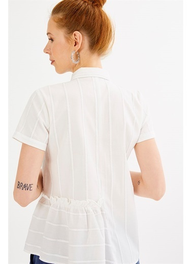 Çizgili Kısa Kollu Gömlek-Just like you